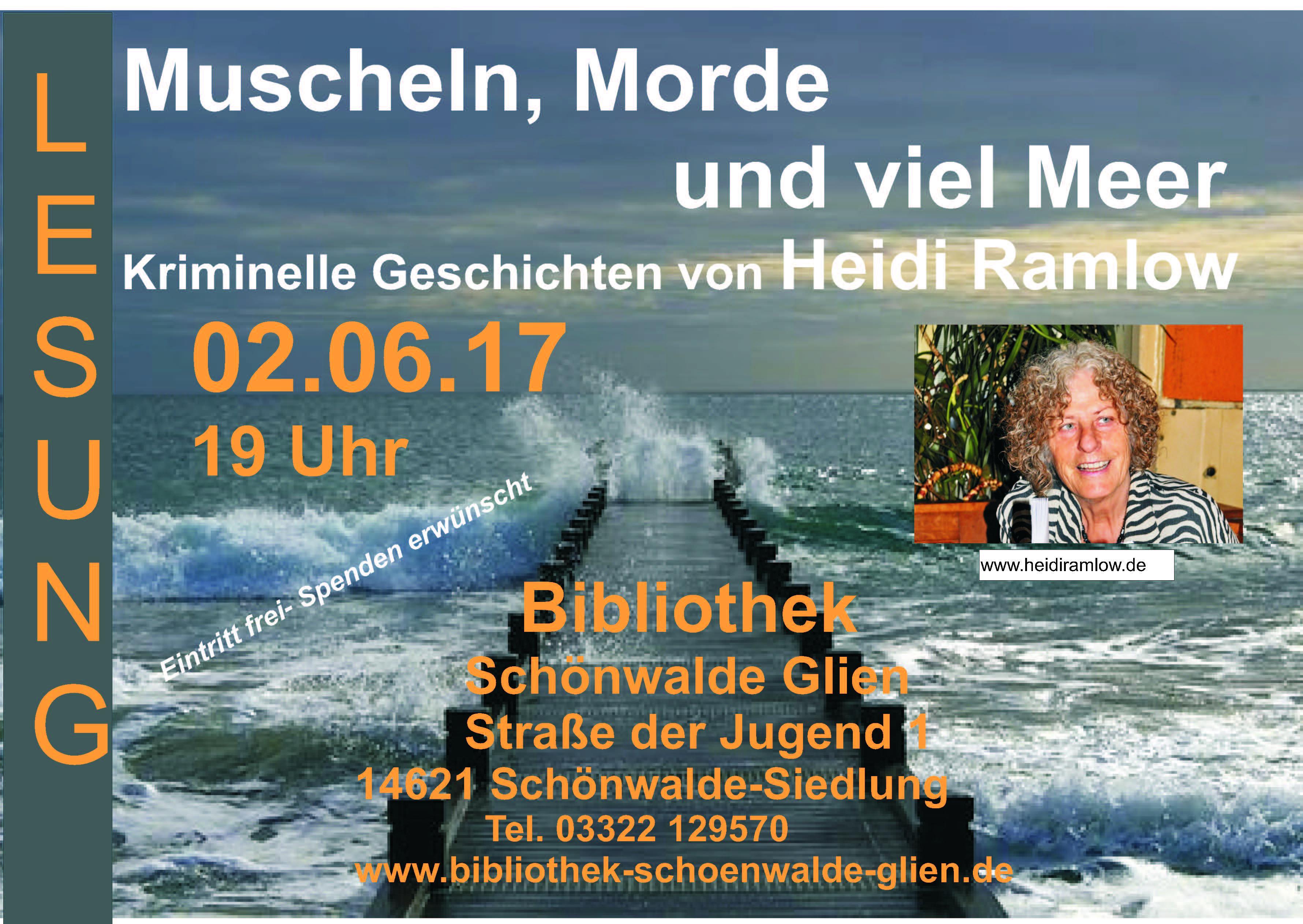 Lesung 2. Juni Bibo Schönwalde